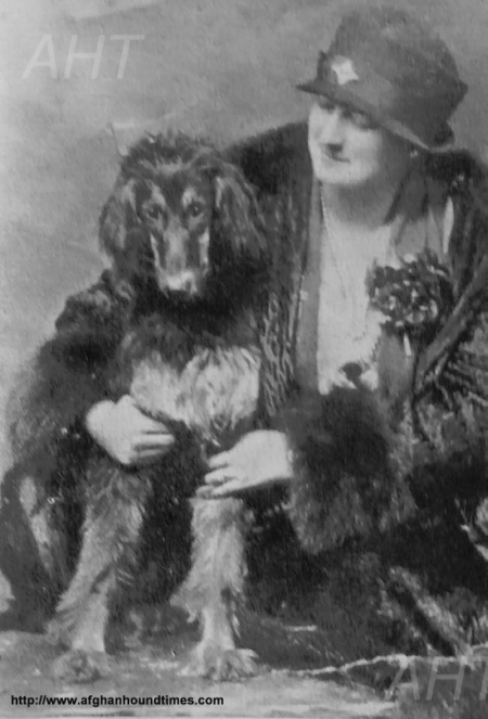 http://www.afghanhoundtimes.com Photo - Phyllis Robson with her Ch Asri Havid Of Ghazni